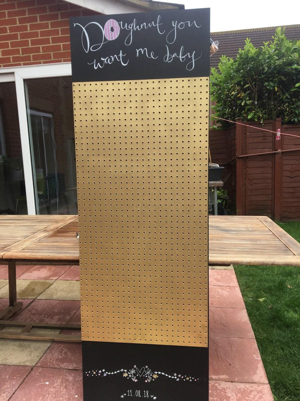 Donut Doughtnut Wall DIY Cinema Hen Do Wedding Planning Blog UK13