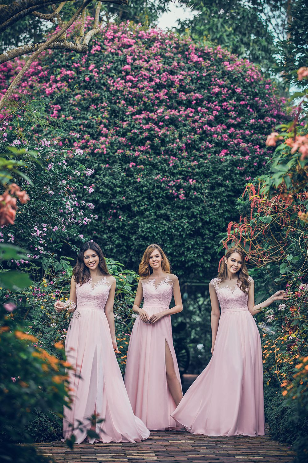 CocoMelody Wedding Bridesmaid Dresses Gowns Bridal