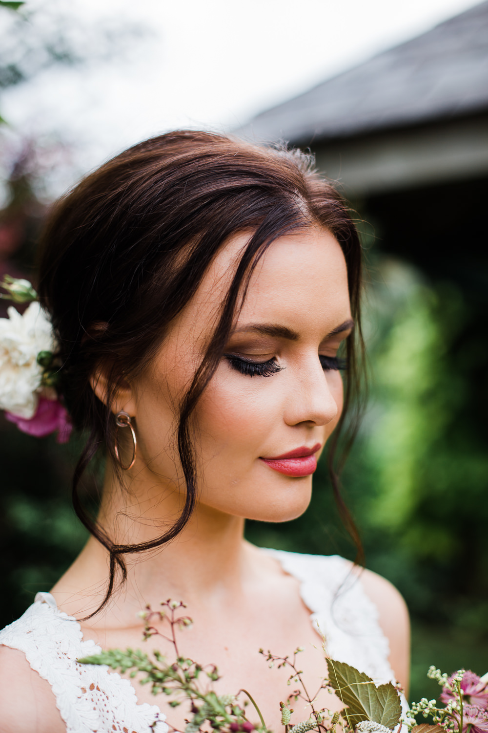 Bride Hair Make Up Beauty Bridal Colourful Bohemian Floral Wedding Ideas Anna Beth Photography