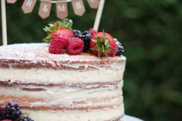 DIY Naked Wedding Cake Tutorial