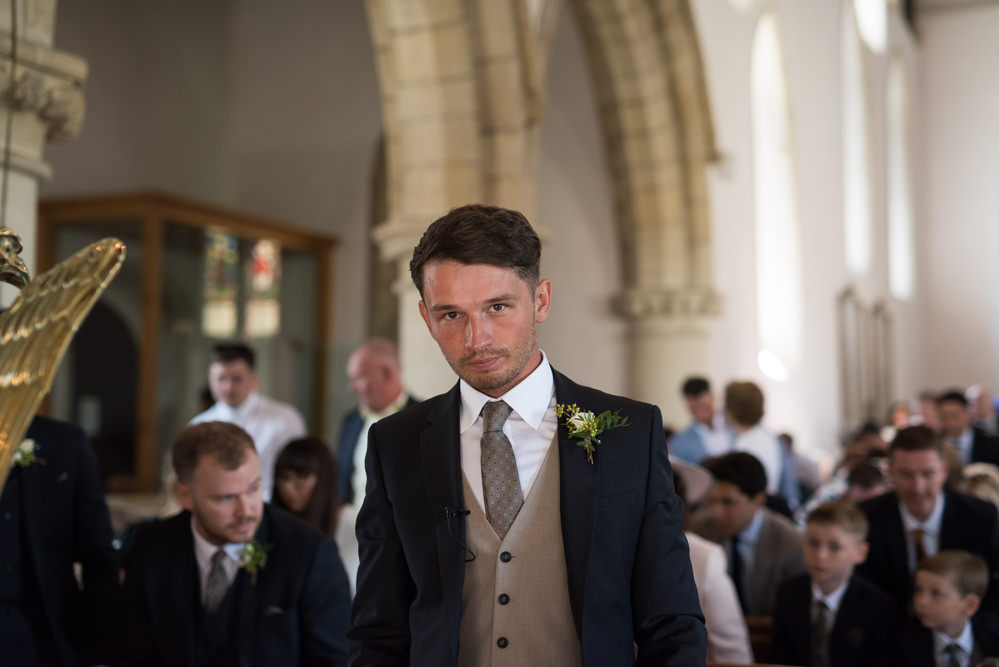 Reiss Groom Waistcoat Camel Navy Elegant Chic Modern Wedding Kayleigh Pope Photography