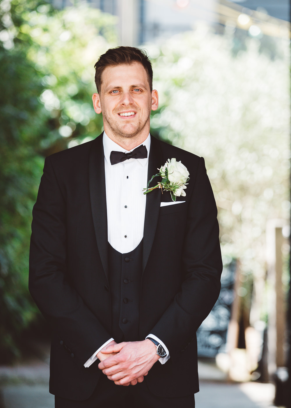 Dinner Suits Tuxedos Bow Tie Groom Groomsmen George Rye Wedding Hollie Carlin Photography