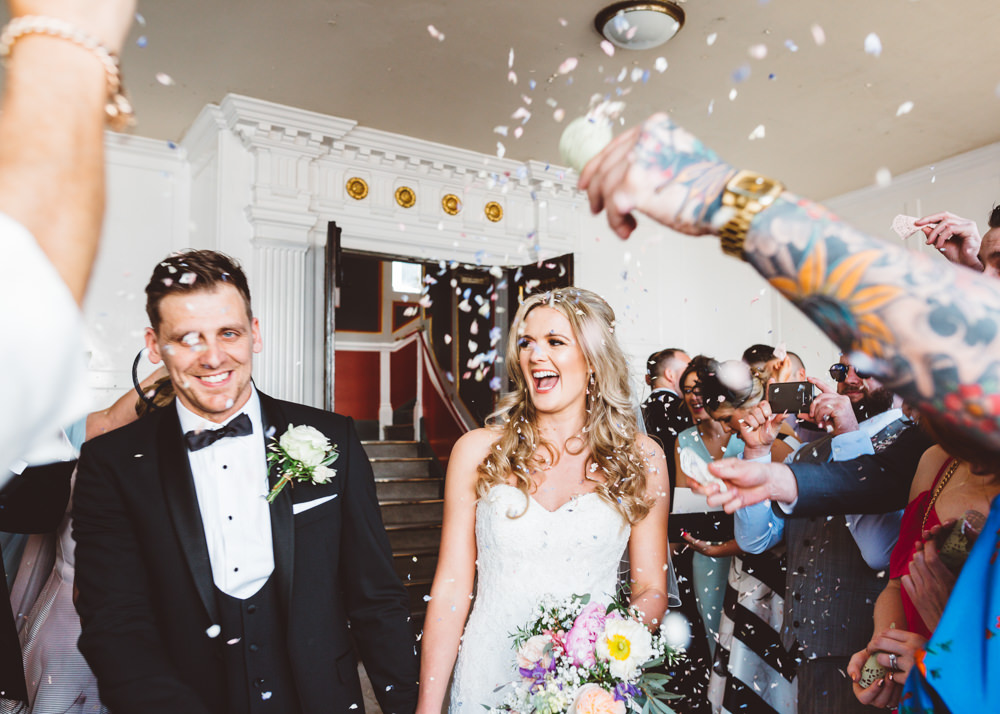 Confetti Throw George Rye Wedding Hollie Carlin Photography