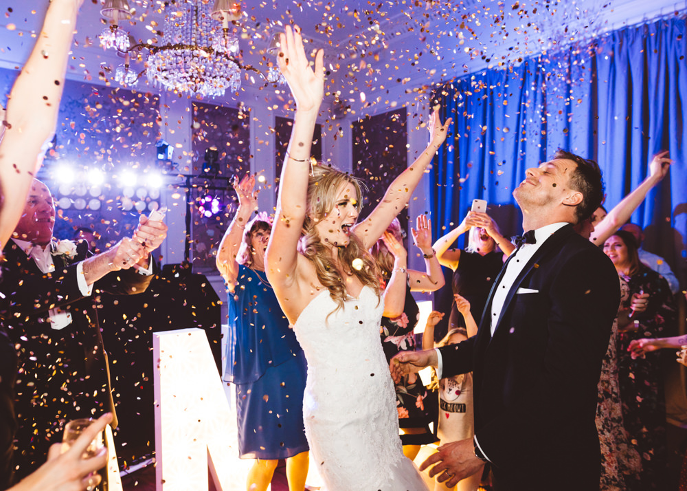 Glitter Confetti Bomb First Dance George Rye Wedding Hollie Carlin Photography