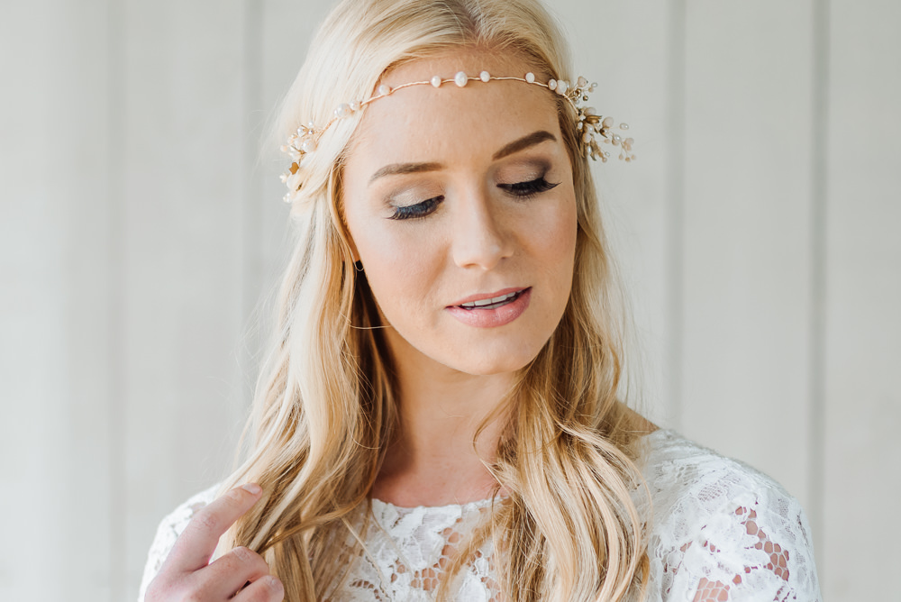 Make Up Bride Bridal Forehead Band Accessory Headdress Grey Violet Wedding Ideas Chloe Ely Photography