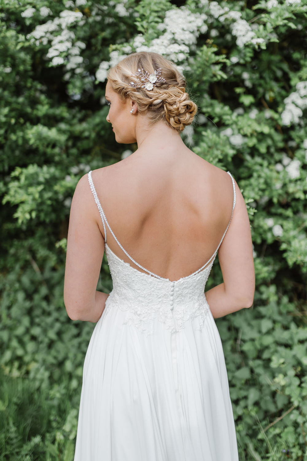 Hair Bride Bridal Up Do Style Plaits Braids Hairpiece Grey Violet Wedding Ideas Chloe Ely Photography