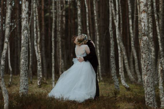 Intimate Winter Outdoor Scotland Wedding Christopher Ian Photography