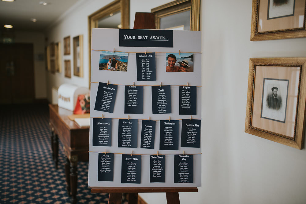 Table Plan Seating Chart Pegs Twine Photographs Easel Macdonald Houston Hotel Wedding Martin Venherm Photography