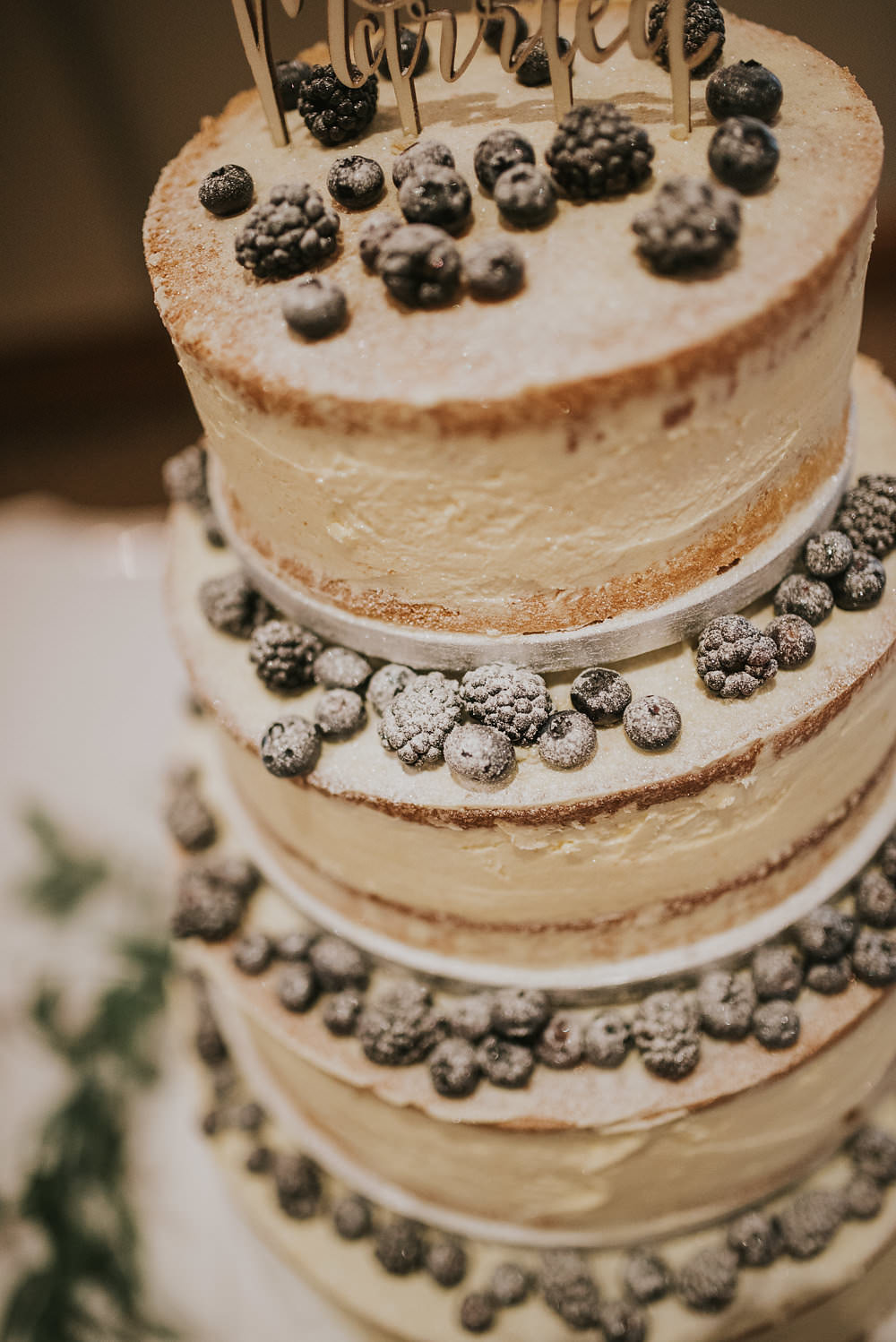 Naked Cake Topper Laser Cut Wood Berries Macdonald Houston Hotel Wedding Martin Venherm Photography