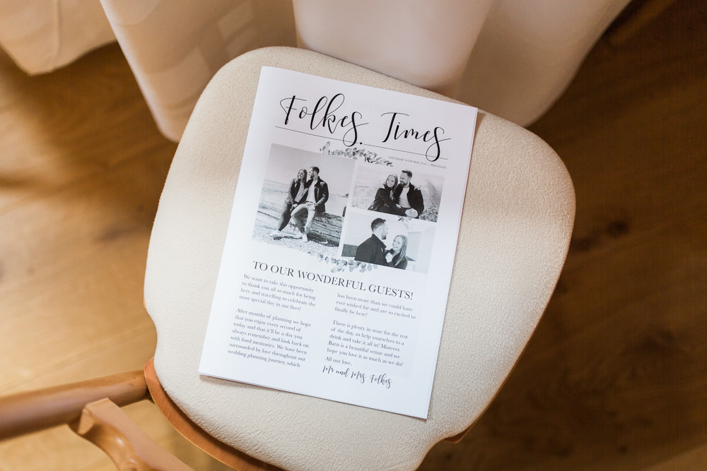 Wedding Times Newspaper Moreves Barn Wedding Gemma Giorgio Photography