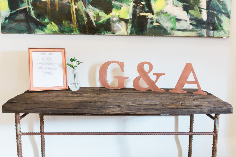 Initials Welcome Light Bulb Vase Moreves Barn Wedding Gemma Giorgio Photography