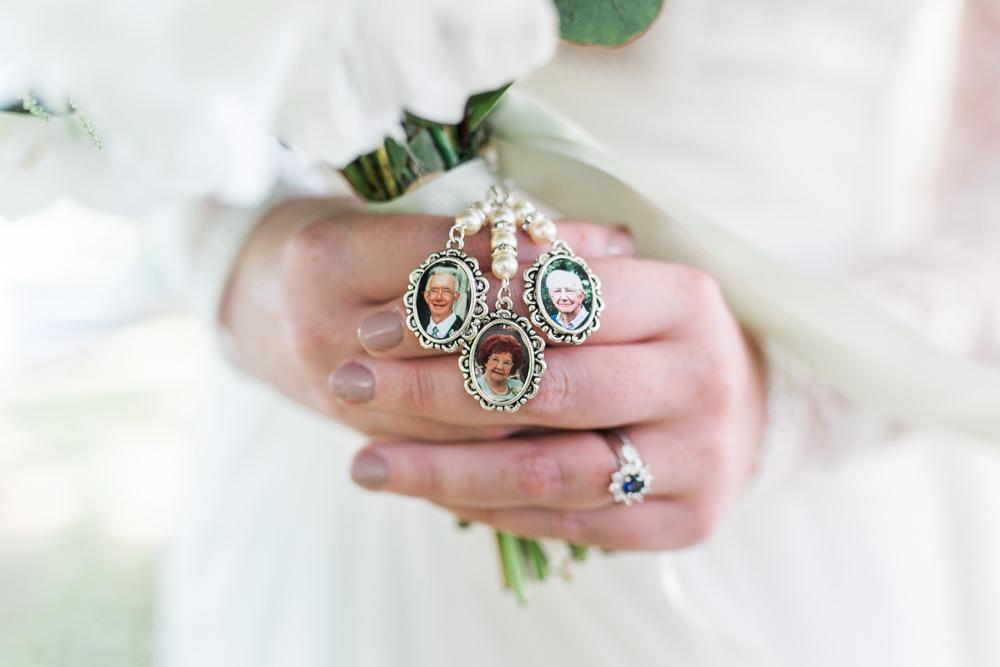 Memory Bouquet Charms Moreves Barn Wedding Gemma Giorgio Photography
