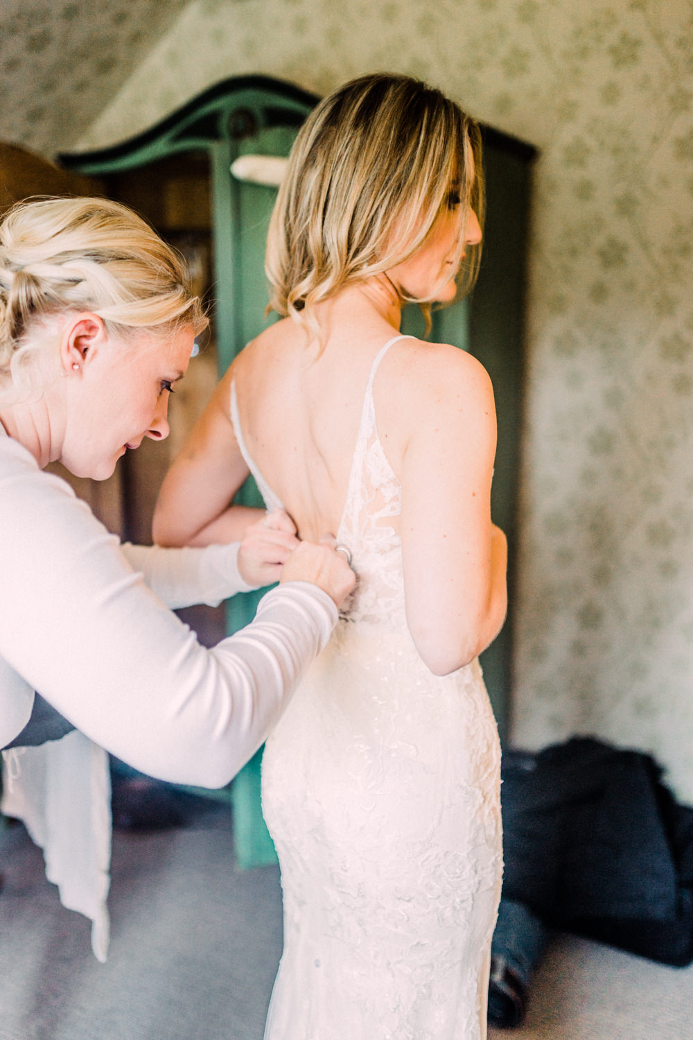 Limor Rosen Lace Dress Gown Bride Bridal Straps Lace Sequin Pheasant Harome Wedding Yorkshire Arabella Smith Photography