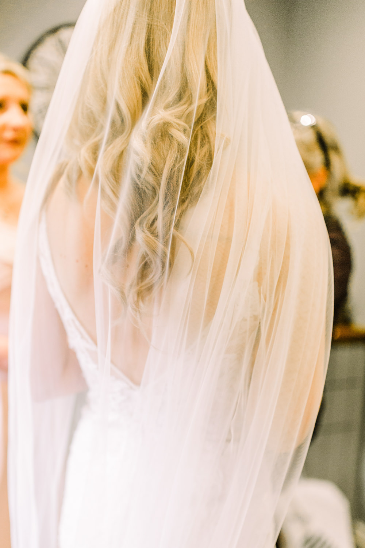 Bride Bridal Dress Gown Veil Tulle Pheasant Harome Wedding Yorkshire Arabella Smith Photography
