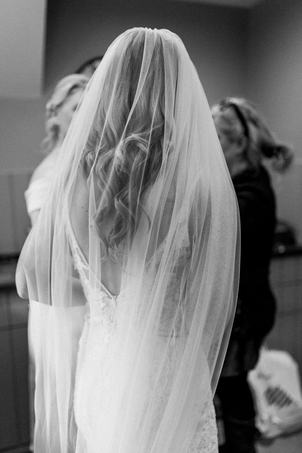 Bride Bridal Dress Gown Veil Tulle Pheasant Harome Wedding Yorkshire Arabella Smith Photography