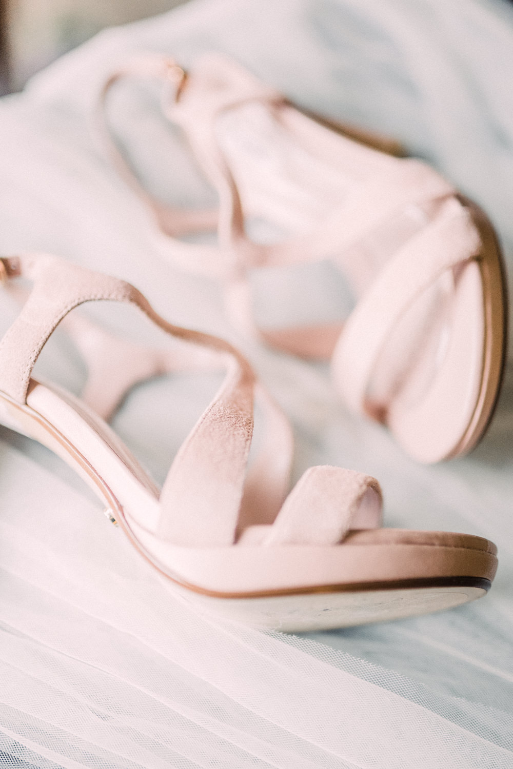 Bride Bridal Strappy Heels Shoes Pheasant Harome Wedding Yorkshire Arabella Smith Photography