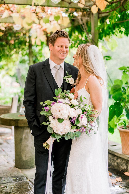 Black Suit Grey Tie Groom Pheasant Harome Wedding Yorkshire Arabella Smith Photography