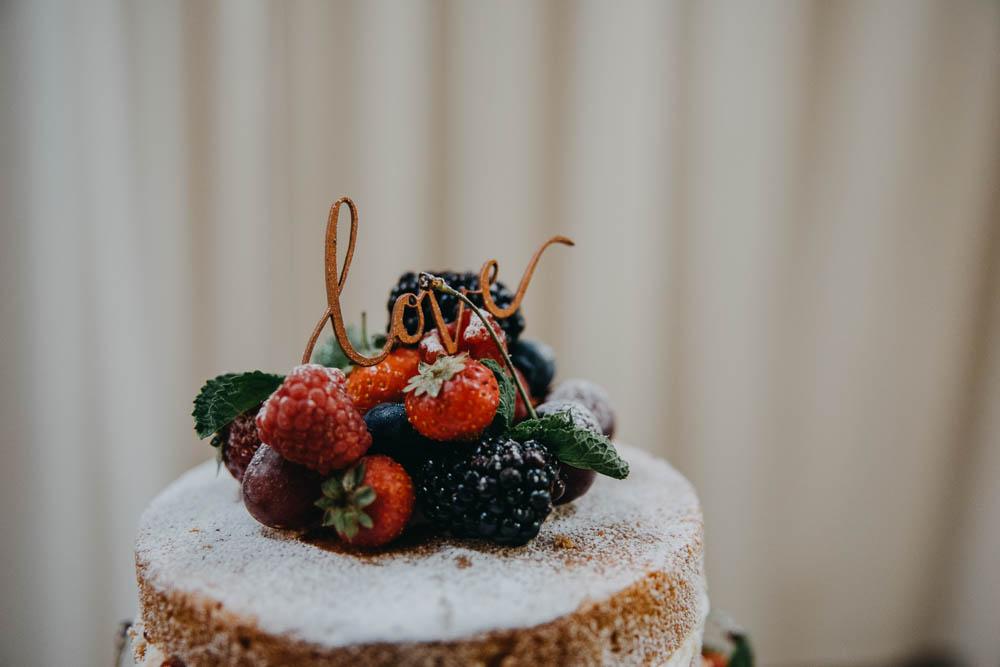 Laser Cut Cake Topper Love Fruit Railway Barn Wedding Lottie Photography