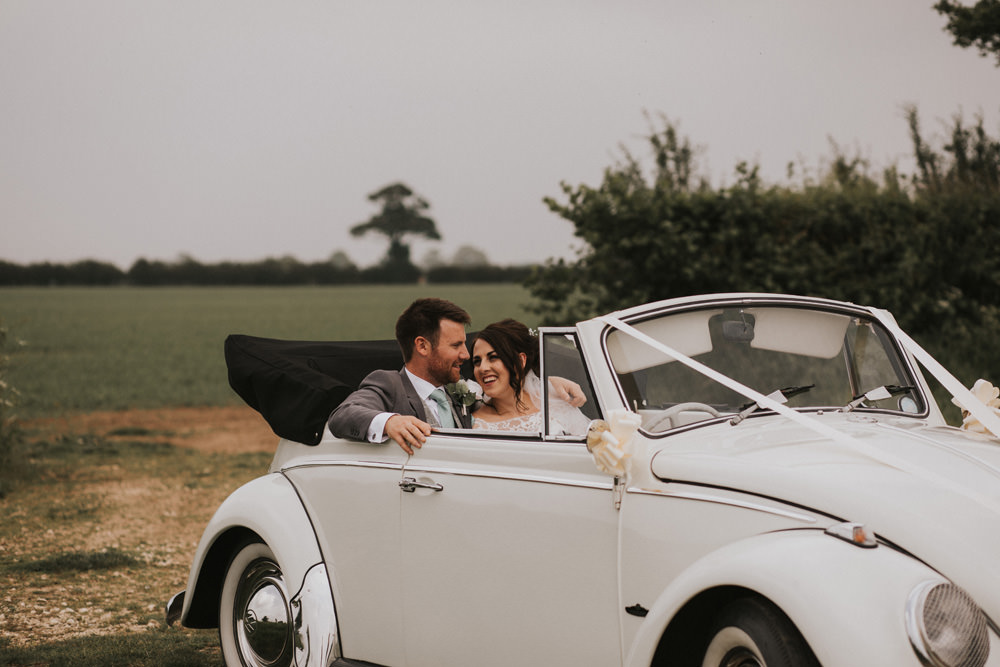 Outdoor Farm Field Wheat Rustic Garden Marquee Bride Bouquet Groom VW Beetle | Fun and Relaxed Scrivelsby Walled Garden Wedding Brook Rose Photography