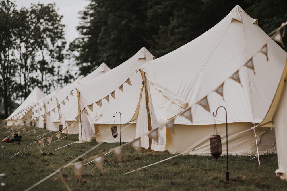 Outdoor Farm Field Wheat Rustic Garden Marquee Glamping Bell Tent Bunting | Fun and Relaxed Scrivelsby Walled Garden Wedding Brook Rose Photography
