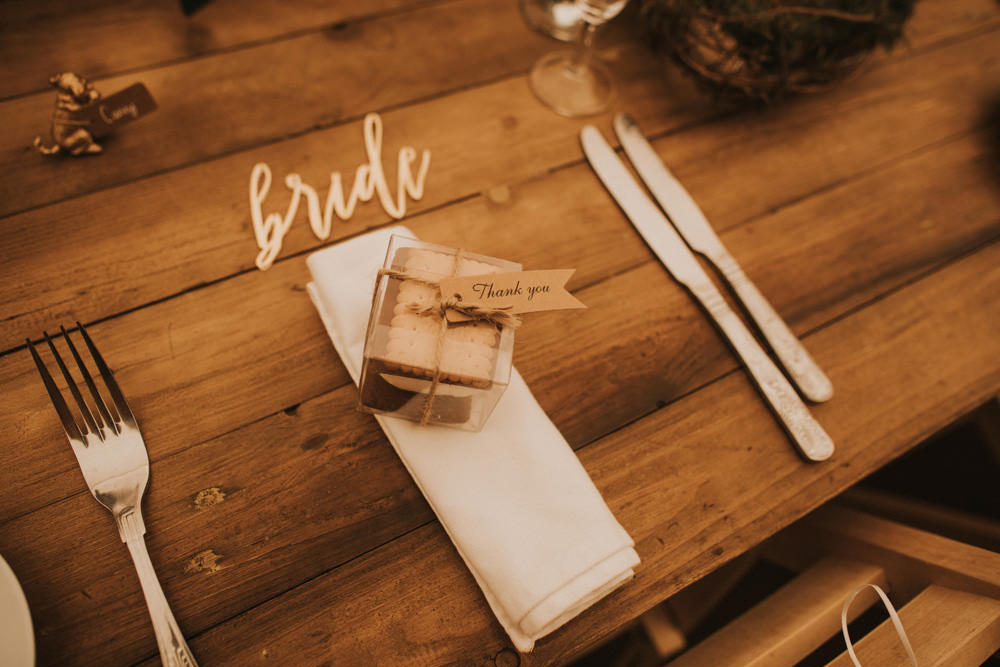 Outdoor Farm Field Wheat Rustic Garden Marquee Foliage Wooden Trestle Smores Favours | Fun and Relaxed Scrivelsby Walled Garden Wedding Brook Rose Photography