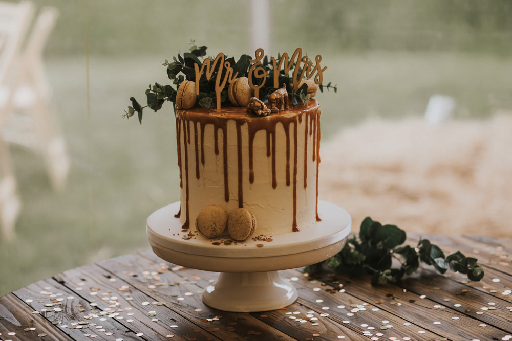 Outdoor Farm Field Wheat Rustic Garden Marquee Foliage Mr and Mrs Cake Topper Salted Caramel | Fun and Relaxed Scrivelsby Walled Garden Wedding Brook Rose Photography