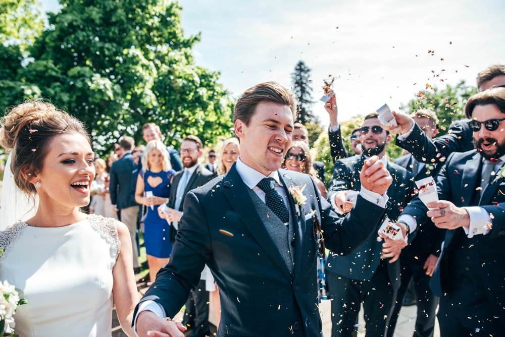 Confetti Warm Welcoming Wedding Three Flowers Photography