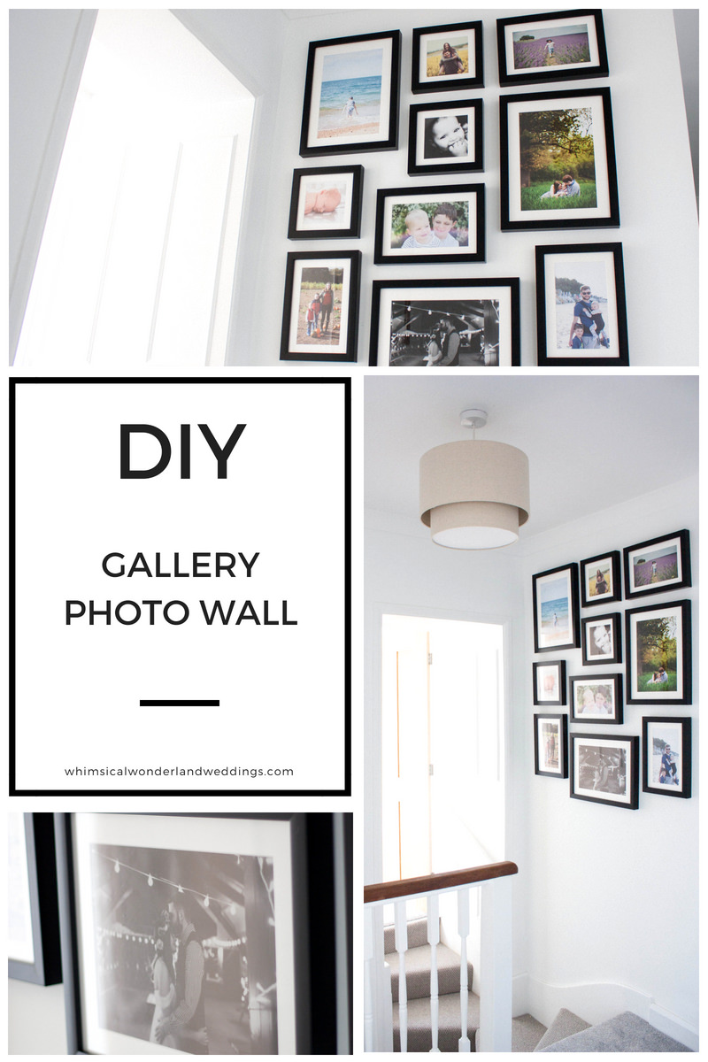 Wedding Photos Print Gallery Wall How To DIY Guide Advice Family Photographs