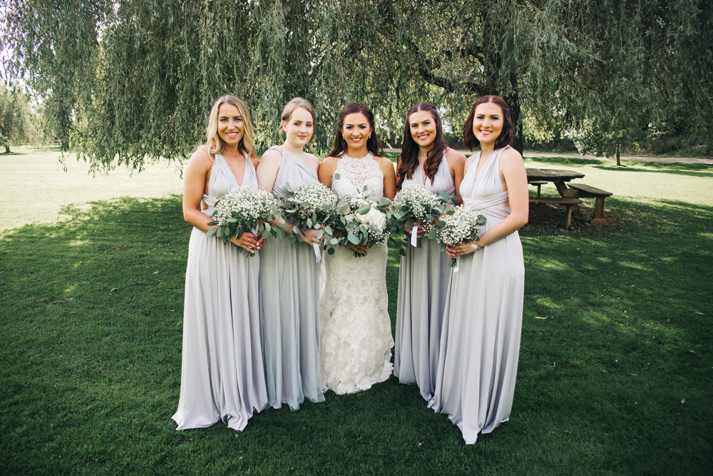 Grey Long Maxi Multiway Bridesmaid Dresses Wray's Barn Whinstone View Wedding Sally T Photography