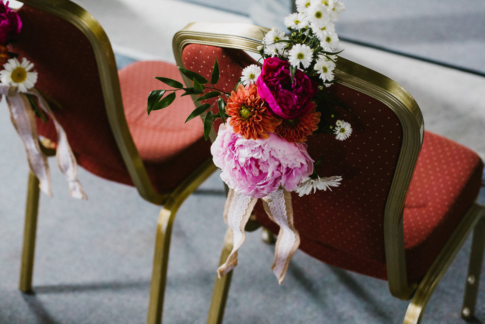 Chair Decoration Floral Flowers Back Peony Anna Carriga Wedding Honey and the Moon Photography