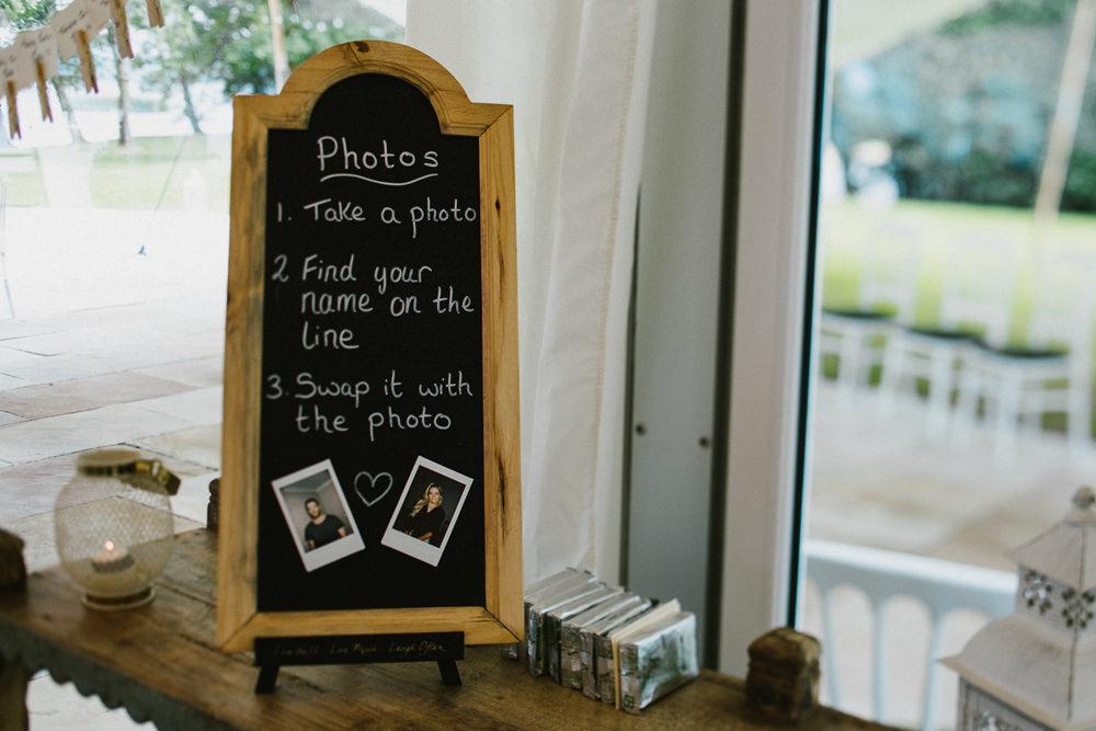 Photo Table Plan Polaroid Anna Carriga Wedding Honey and the Moon Photography