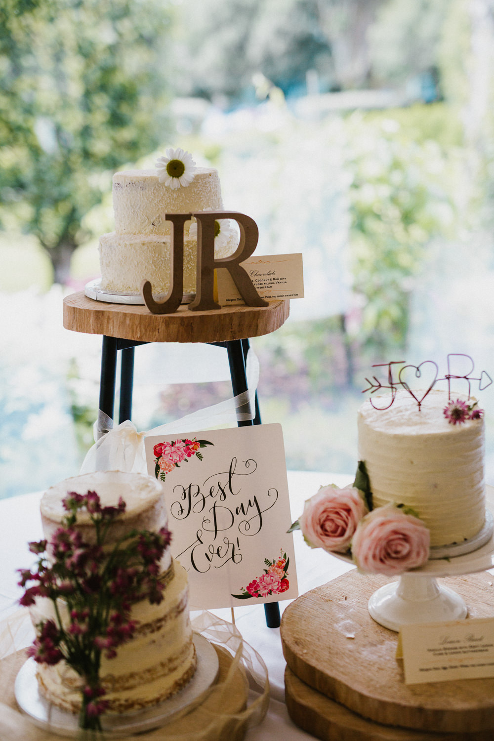Cake Table Initials Buttercream Tiered Anna Carriga Wedding Honey and the Moon Photography