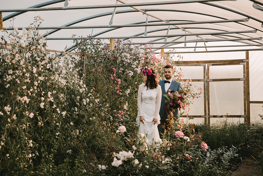 Greenhouse Glasshouse Flowers Antique Moody Floral Farm Wedding Ideas Jemma King Photography