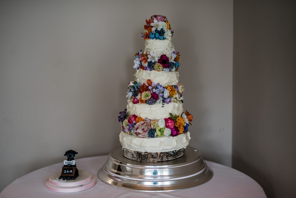 Cake Buttercream Flowers Tall Tiers Cleatham Hall Wedding Kazooieloki Photography