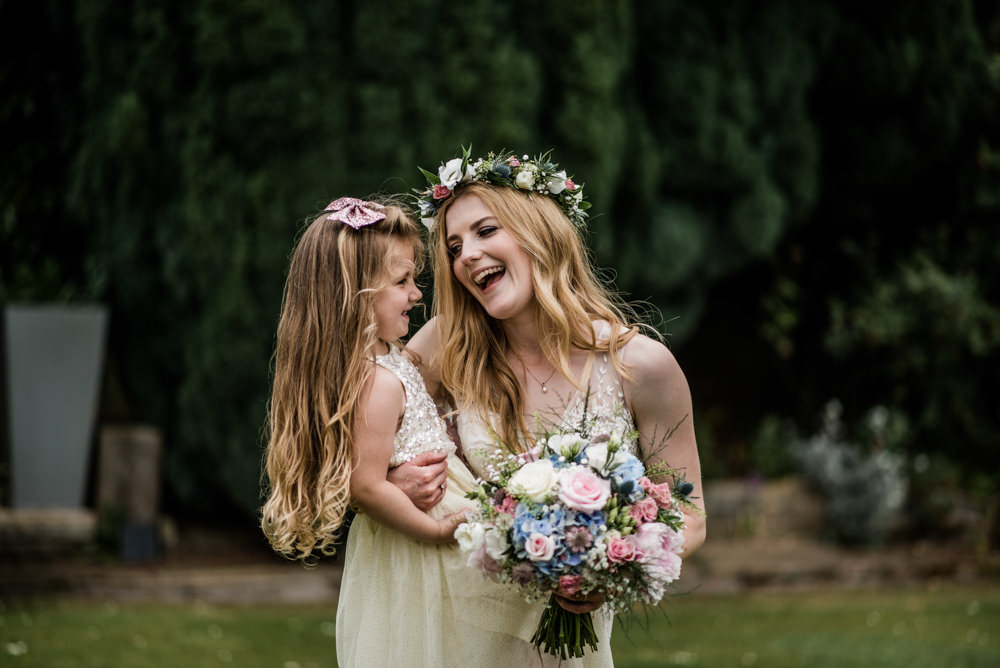Flower Girl Bride Cleatham Hall Wedding Kazooieloki Photography