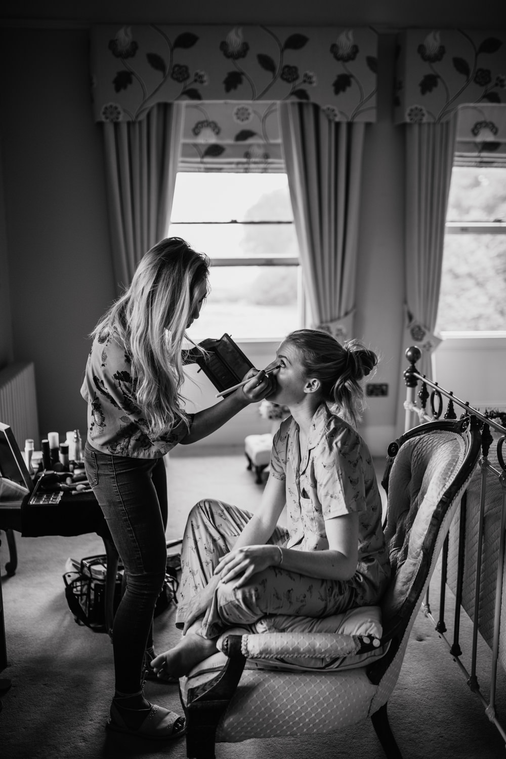 Bride Bridal Prep Morning Make Up Cleatham Hall Wedding Kazooieloki Photography