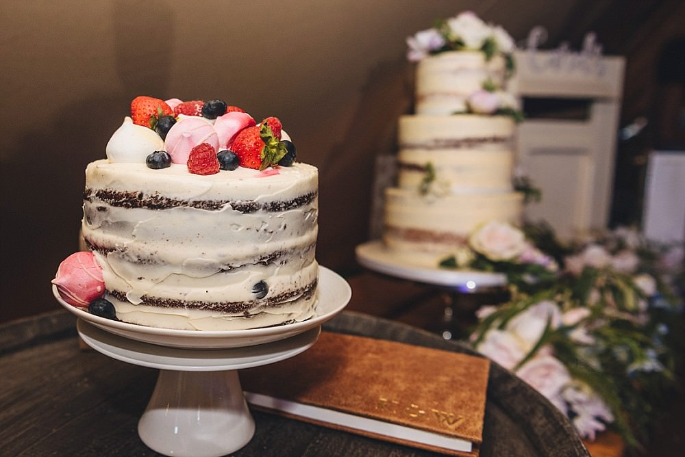 Semi Naked Cake Flowers Buttercream DIY Home Barn Tipi Wedding Marta May Photography