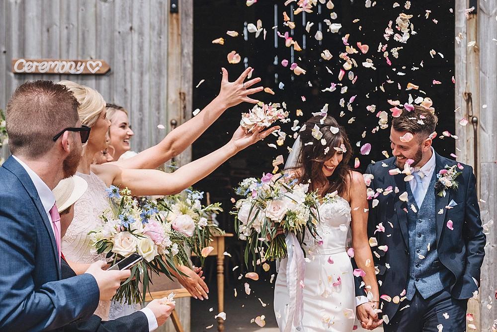 Confetti Throw DIY Home Barn Tipi Wedding Marta May Photography