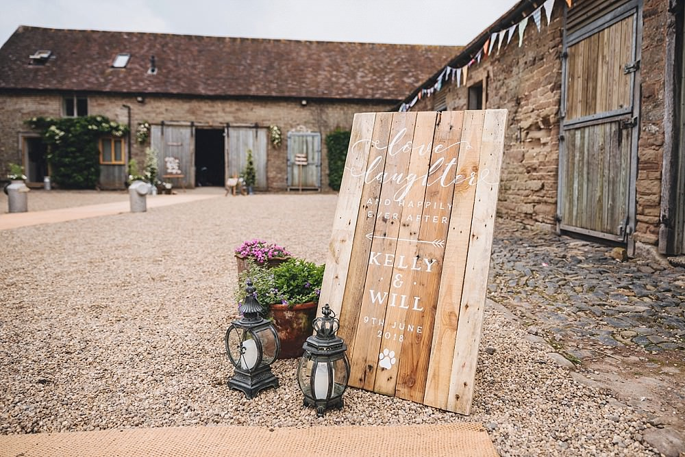 Wooden Pallet Sign Welcome Calligraphy Painted DIY Home Barn Tipi Wedding Marta May Photography