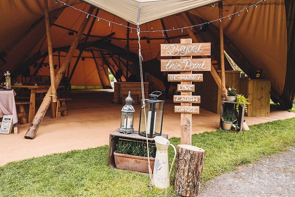 Wooden Pallet Sign Welcome Calligraphy Painted Post Log DIY Home Barn Tipi Wedding Marta May Photography
