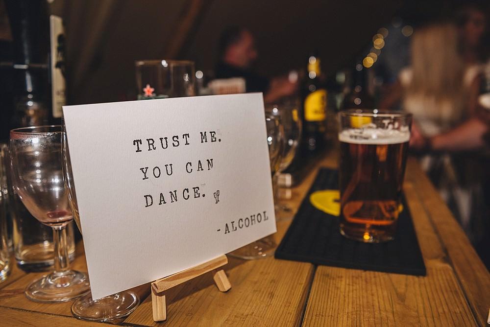 Dancing Sign Quote DIY Home Barn Tipi Wedding Marta May Photography
