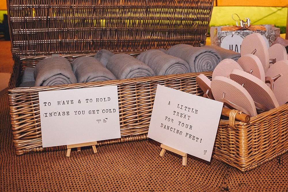 Flip Flop Baskets DIY Home Barn Tipi Wedding Marta May Photography