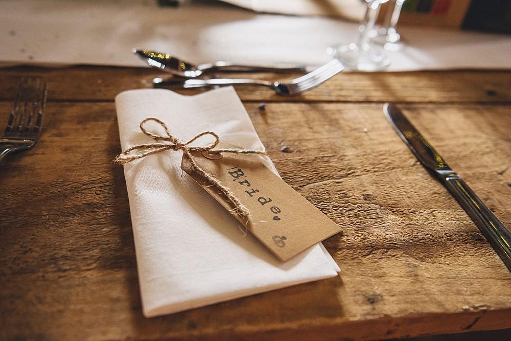 Twine Luggage Tag Place Name Setting DIY Home Barn Tipi Wedding Marta May Photography
