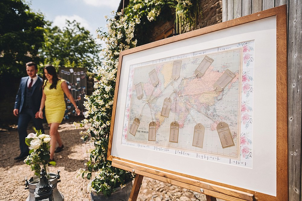 Map Travel Seating Plan Table Chart DIY Home Barn Tipi Wedding Marta May Photography