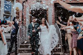 Confetti Throw Faversham Wedding Leeds Steven Haddock Photography