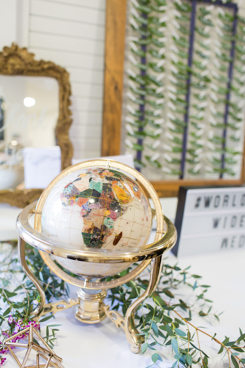 Globe Decor Travel Highcliffe Castle Wedding Bowtie and Belle Photography