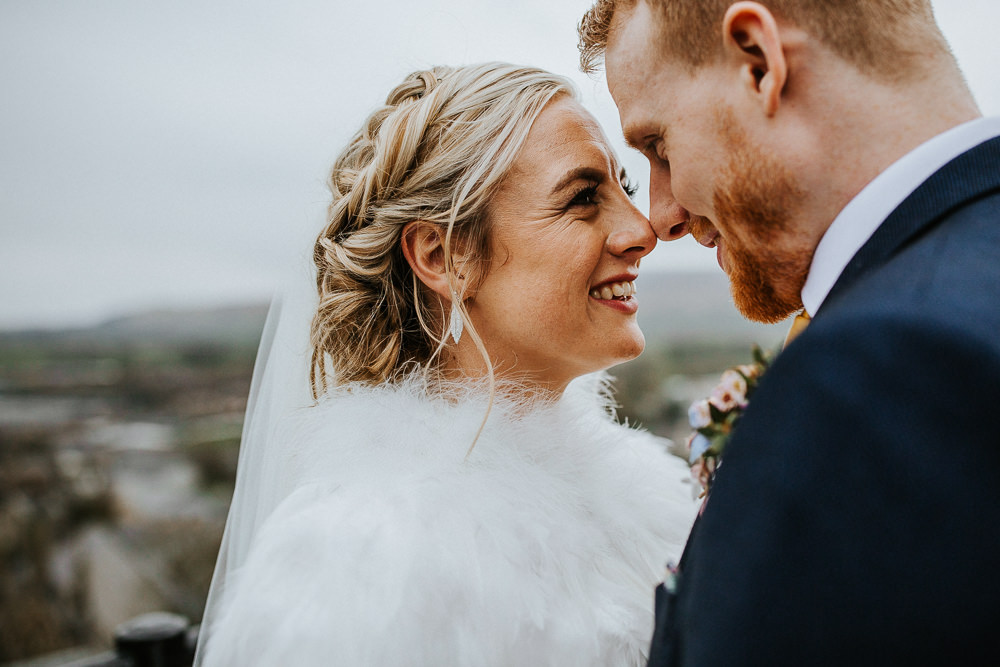 Bride Bridal Hair Plaits Braids Twist Up Do Style Veil Holmes Mill Wedding Emilie May Photography