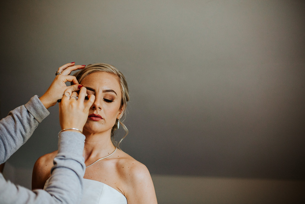 Bride Bridal Make Up Beauty Holmes Mill Wedding Emilie May Photography