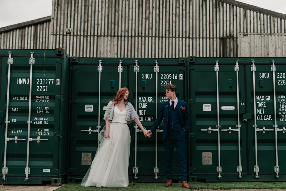 Industrial Luxe Wedding Ideas Balloon Installation Ayelle Photography