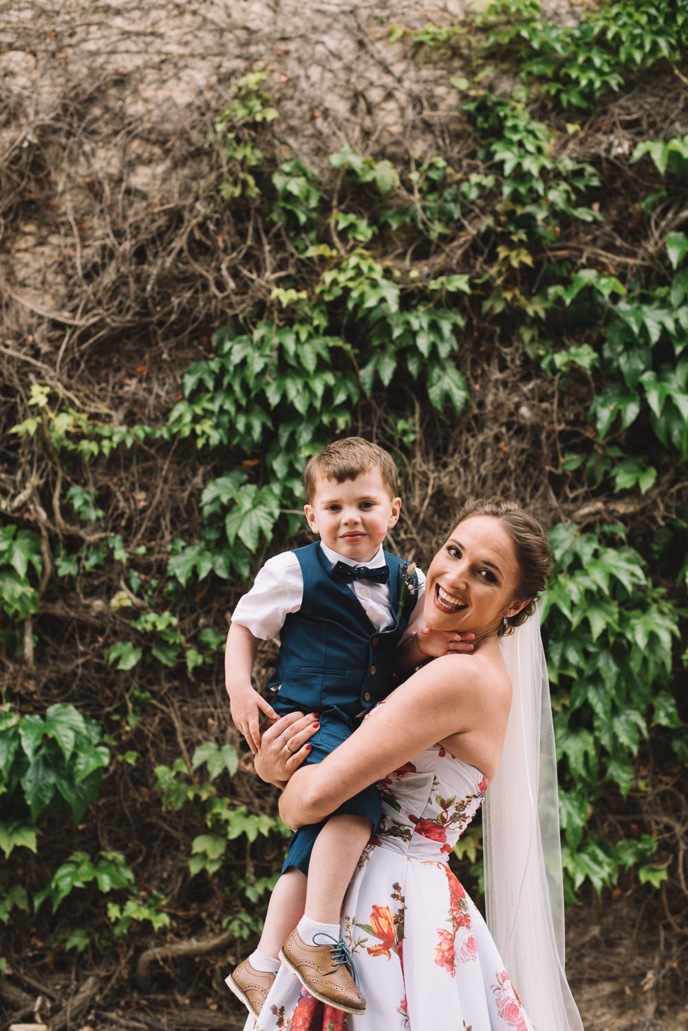 Page Boy Bow Tie Waistcoat Shorts Irnham Hall Wedding Lucie Watson Photography